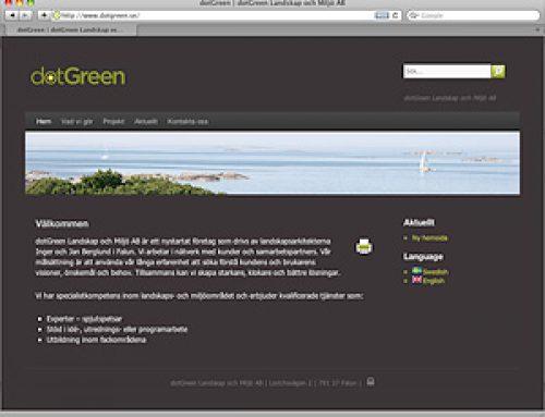 Dotgreen – Från statisk till dynamisk hemsida